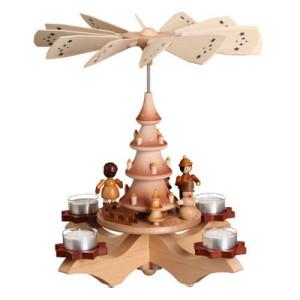 Leuchterpyramide mit Winterkindern Pyramide original Erzgebirge Deko 0338 NEU