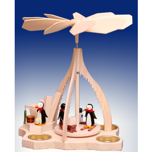 Tischpyramide Pinguine bunt BxHxt 21x26,5x14,5cm NEU