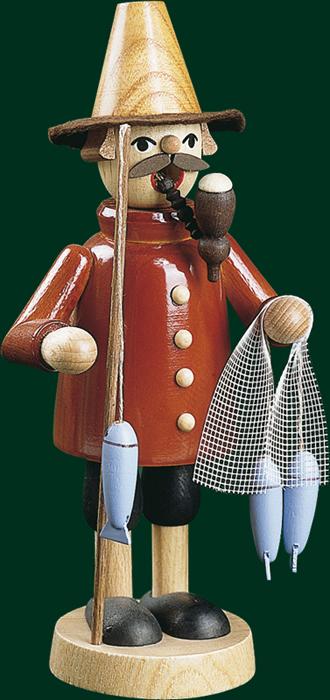 Räucherfigur Weihnachten Erzgebirge Seiffen Räuchermann Fischer 26027 NEU