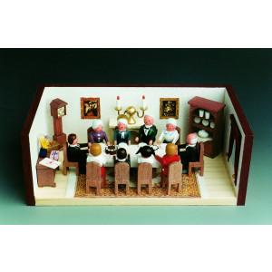 Miniaturstube Goldenhochzeitsstube BxHxT 11x4x6 cm NEU