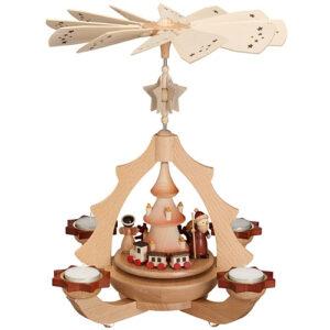Tischpyramide Bescherung Weihnachtsmann mit Zug HxLxB 31x31x36cm NEU