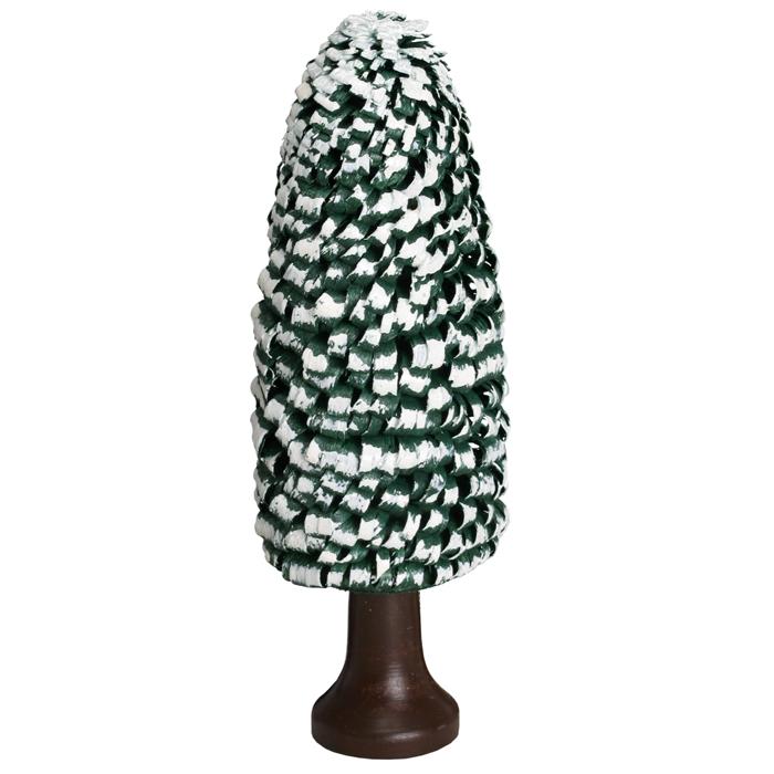 Ringelbaum Fichte mit Stamm grün/ weiß Holzbaum H= 13,5cm NEU