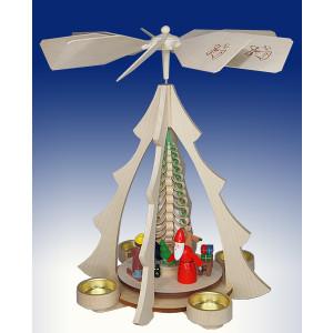 Tischpyramide Weihnachtsmann mit Eisenbahn natur BxHxt 25x32x28,5cm NEU