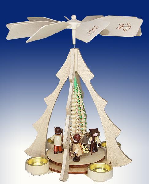 Tischpyramide Waldleute natur BxHxt 25x32x28,5cm NEU