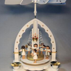 Pyramide Engelkonzert Groß Weiß 27 cm Seiffen Erzgebirge Weihnachten NEU 16051