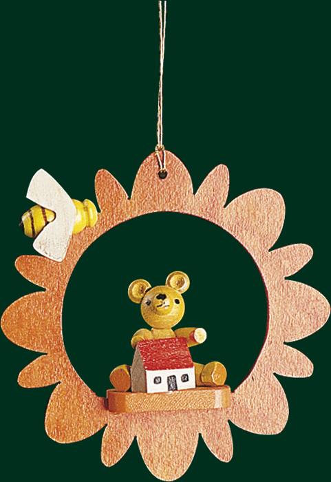 Christbaumschmuck Blüte und Teddy mit Biene Baumbehang Weihnachtsbaum NEU 13420