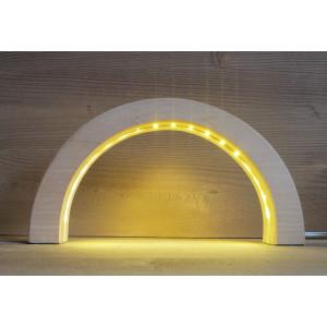 LED Schwibbogen Linde geschnitzt 18,5 cm Lichterbogen NEU