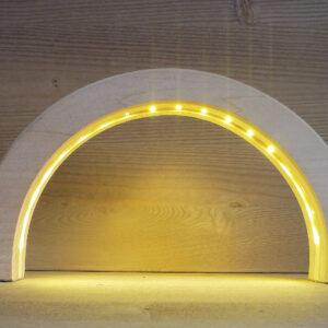 LED Schwibbogen Linde geschnitzt 24,5 cm Lichterbogen NEU
