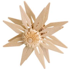 Aufsteckstern doppelt mit Kieferblätter geschlitzt Natur Ø 7cm NEU