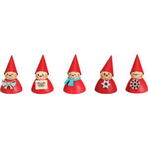 Weihnachtsdekoration 5 Weihnachtswippel HxBxT = 4x3x3cm NEU