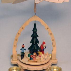 Pyramide Weihnachtswald Bunt 27cm NEU