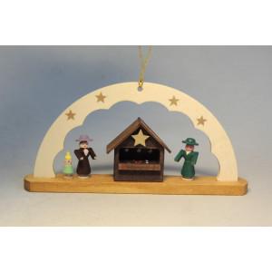Baumbehang Schwibbogen Weihnachtsmarkt 4,5 cm Christbaumschmuck Seiffen NEU