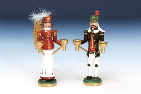 Weihnachtsfiguren Engel & Bergmann bunt Höhe 23 cm NEU