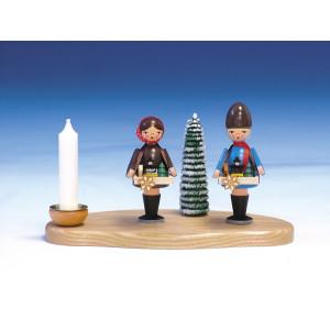 Kerzenständer Striezelkinder bunt Größe 11cm NEU
