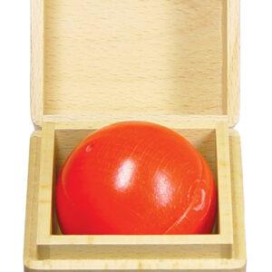 Holzspielzeug Klingende Holzkugel Rot LxBxH 67x67x67mm NEU