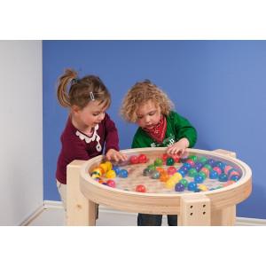 Holzspielzeug Kugeltisch klein/ hoch LxBxH 770x770x230mm NEU