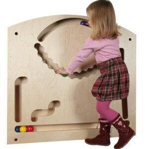 Holzspielzeug Wand-Kugelbahn groß LxBxH 1070x950x100mm NEU