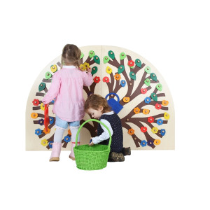 Holzspielzeug Wand-Steckspiel Busch LxBxH 1080x930x90mm NEU
