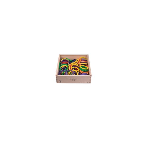 Holzspielzeug Fröbel Gabe 9-1 Ringe LxBxH 220x220x75mm NEU