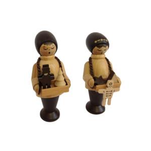 Striezelkinder 6 cm Figur Tischdeko Erzgebirge NEU