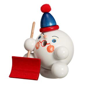 Räucherfigur Räucherschneeball mit Schneeschaufel BxHxT ca 7 x 9 x 7cm NEU