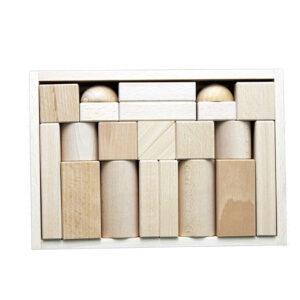 Holzspielzeug Baukasten große Blöcke natur BxHxT 26,5x18,5x4,5cm NEU
