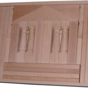Holzspielzeug Baukasten Domizil 4 natur BxHxT 37,5x28,5x4,5cm NEU