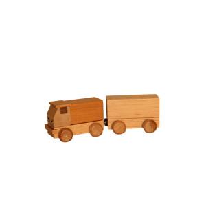 Holzspielzeug Lastzug natur Länge ca. 15 cm NEU