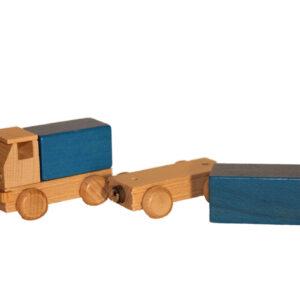 Holzspielzeug Lastzug bunt Länge ca. 15 cm NEU