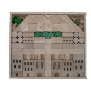 Holzspielzeug Architekturbaukasten 345 BxHxT 40x34,5x7,5cm NEU