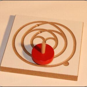 Holzspielzeug Kreiselbrett Ballerina BxH 12x12cm NEU