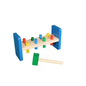 Holzspielzeug Klopfbank mit Hammer BxHxT 27x9x4cm NEU