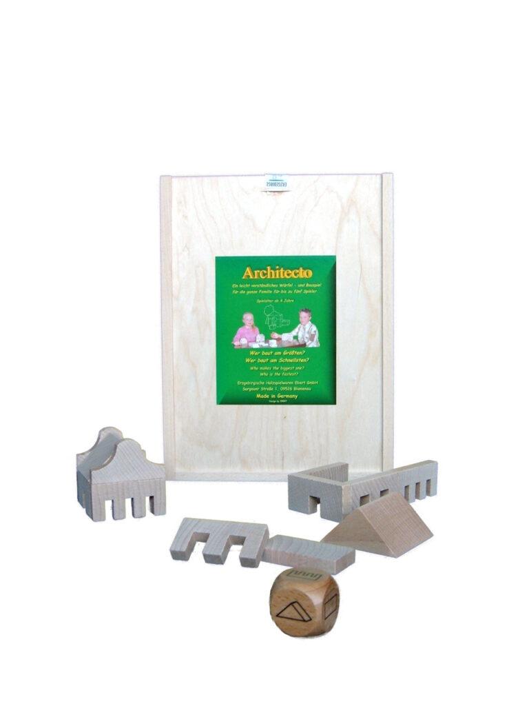 Holzspielzeug Würfelspiel Architecto BxHxT 29x21,5x4,5cm NEU