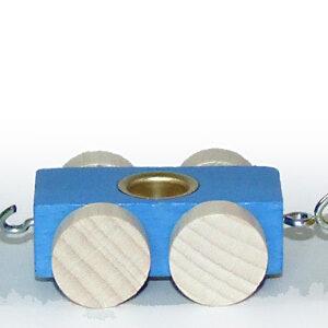 Holzdekoration Holzwagon mit Metelltülle für Buchstabenzug BxLxH 50x40x20mm NEU