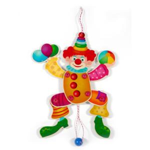Holzspielzeug Hampelmann Clown BxLxH 230x25x360mm NEU