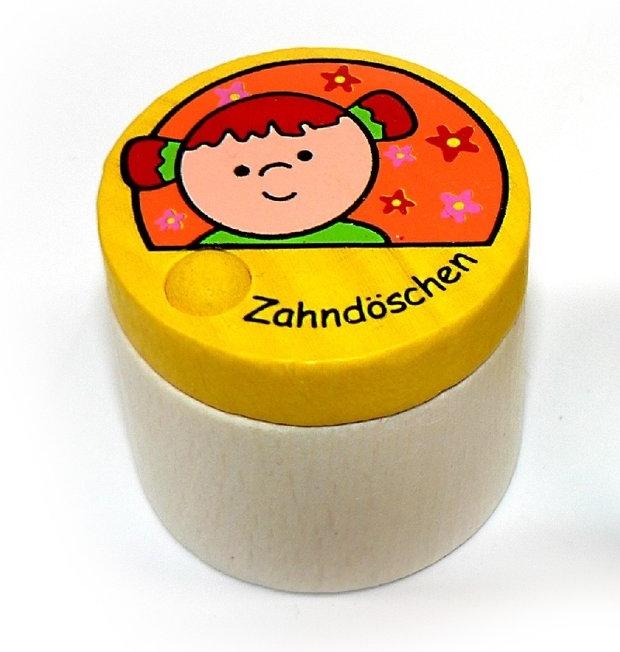 Holzspielzeug Holzdose für Milchzähne BxLxH 40x40x35mm NEU