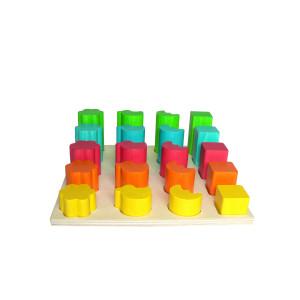 Holzspielzeug Formensteckspiel BxLxH 210x210x70mm NEU