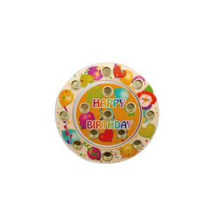 Holzdekoration 2 Geburtstagsringe Happy Birthday im Set BxLxH 160x10x160mm NEU