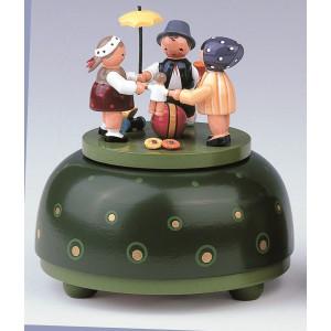 Spieldose klein – Kinderreigen Melodie: Hopphopphopp... / 18er Werk 12 cm NEU
