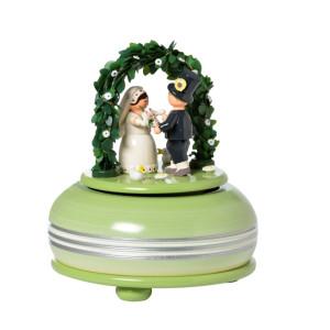 Spieldose klein Hochzeitsfest Melodie: Hochzeitsmarsch / 18er Werk 15 cm NEU