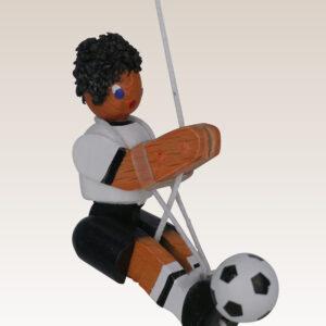 Kletterfigur Fußballer Weißes Kletterseil , Länge ca. 45 cmHöhe der Figur ca. 6,5 cm NEU
