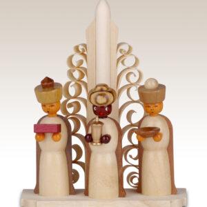 Miniaturen Heilige drei Könige auf Sockel, natur 10cm NEU