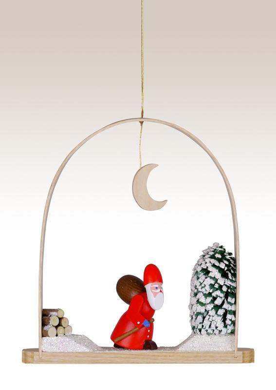 Baumbehang Weihnachtsmann im Bogen 13cm NEU