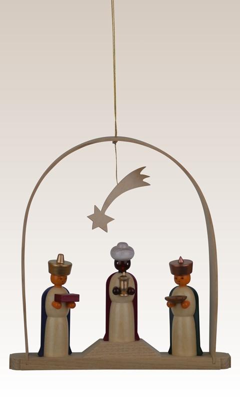 Baumbehang Heilige drei Könige im Bogen, farbig 13cm NEU