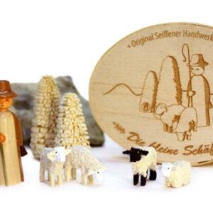 Miniaturen Schäferei in Spandose 10,5cmx8cm h=5cm NEU