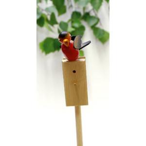 Vogel Singvogel Gimpel Stab 52cm,Vogel 5cm NEU