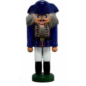 Miniatur - Nussknacker Korporal blau 13cm NEU