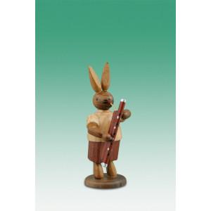 Osterhase Hasenmusikant mit Fagott / natur Höhe ca 7,5 cm NEU