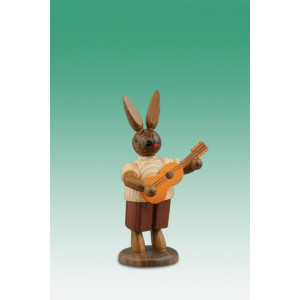 Osterhase Hasenmusikant mit Gitarre / natur Höhe ca 7,5 cm NEU