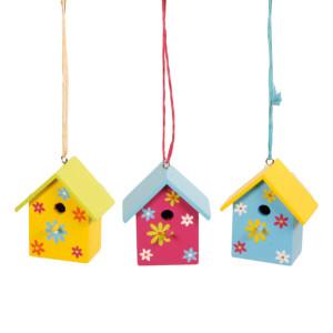 Vogelhaus zum Hängen 3fach sortiert 1 PRO KAUF 5,5x3,5x7cm NEU